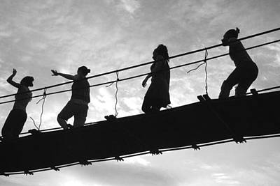 Photograph - Girls On Bridge by Paul Miller