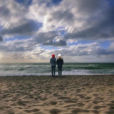 Girls On The Beach Print by Joana Kruse