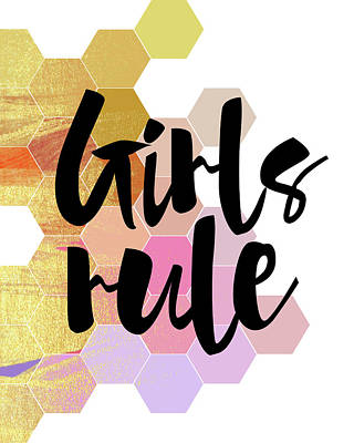 Girls Rule Art Print by Amy Cummings