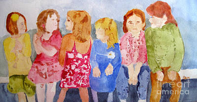 Painting - Girls by Sandy McIntire