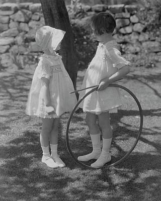 Photograph - Girls Wearing Dresses by Edward Steichen