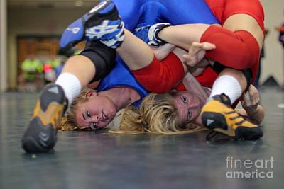 Girls Wrestling Competition Art Print