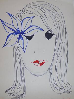 Drawing - Girly by Erika Chamberlin