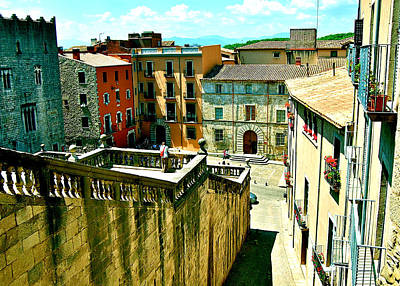Girona Steps Art Print by HweeYen Ong