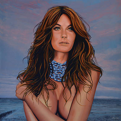 Angel Blues Painting - Gisele Bundchen Painting by Paul Meijering