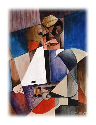 Painting - Gitar Man by Val Byrne