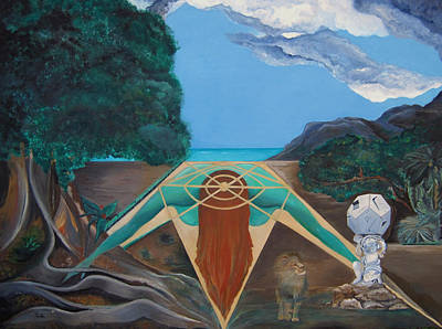 Sicily Painting - Giulia Park - The Watch Of The Dodecahedron by Daniela Giordano