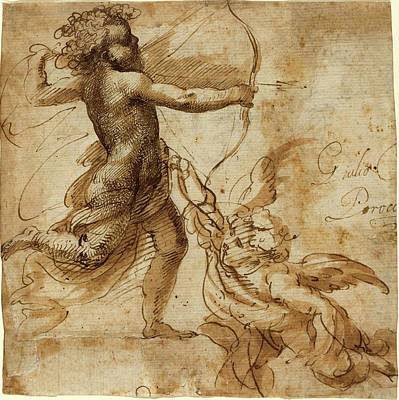 Wash Drawing - Giulio Cesare Procaccini, Italian 1574-1625 by Litz Collection