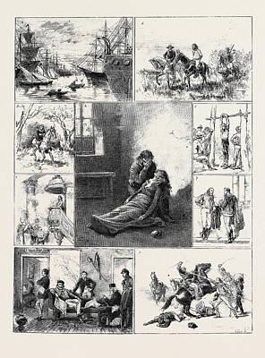 Giuseppe Garibaldi 1. Garibaldi Saves The Life Of A Young Art Print by Brazilian School