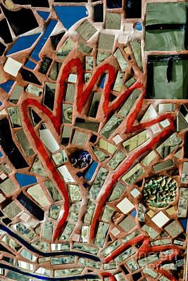 Nyc Subway Mosaic Photograph - Give A Hand by Gary Keesler