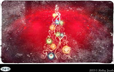 Digital Art - Give Love On Christmas Day by Holley Jacobs