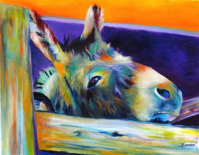 Mule Painting - Give Me A Carrot by Robert Pankey