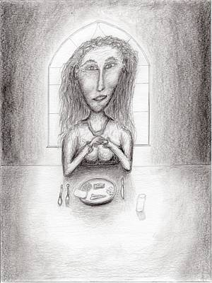 Drawing - Give Us This Day Our Daily Bread by Jim Taylor
