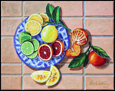 Painting - Give Us This Day Our Daily Fruit by John Lautermilch