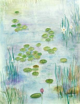 Mixed Media - Giverny Dreaming by Barbie Corbett-Newmin