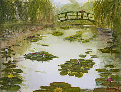 Painting - Giverny Gardens by Lior Ohayon
