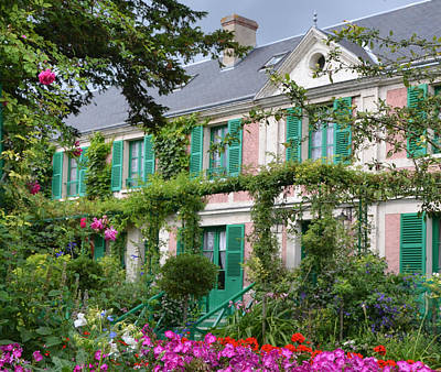 Photograph - Giverny Home Of French Impressionist Painter Claude Monet by Carla Parris