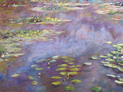 Impressionism Paintings - Giverny Nympheas by David Lloyd Glover