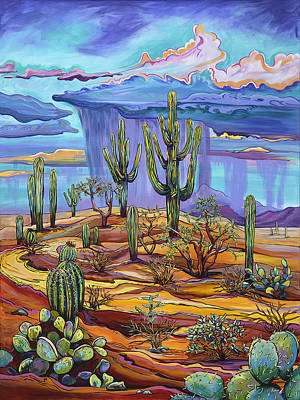 Contemporary Landscape Painting - Giving Back To The Desert by Alexandria Winslow