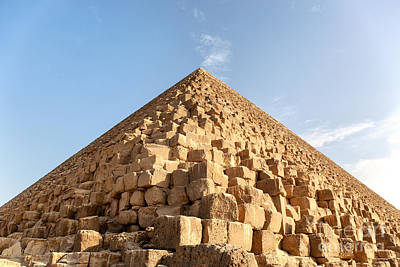 Blue Buildings Photograph - Giza Pyramid Detail by Jane Rix