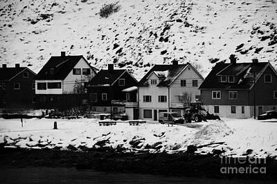 Gjenreisingshus Apartment Houses Strandgata Havoysund Finnmark Norway Print by Joe Fox