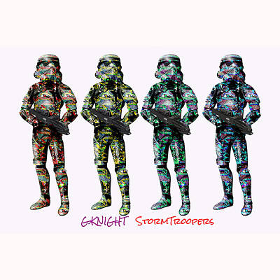 Montreal Mixed Media - G.knight Stormtroopers by G Knight
