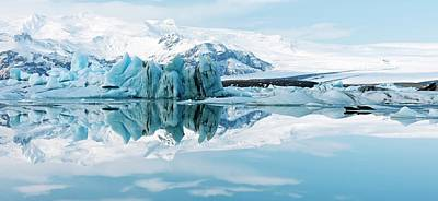 Ice Floes Photograph - Glacial Coastal Landscape by Jeremy Walker