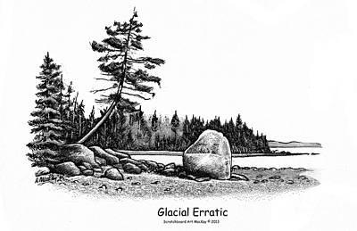 Glacial Erratic Art Print