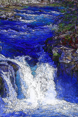 Glacial Flow-2 Art Print by Nancy Marie Ricketts