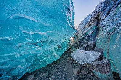 Social Issues Photograph - Glacial Ice Cave, Svinafellsjokull by Panoramic Images