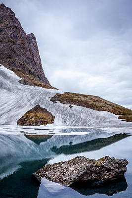 Photograph - Glacial Lake In Spring by Tim Newton