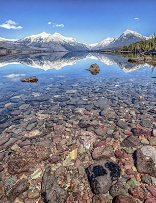 Photograph - Glacial Lake Mcdonald by Aaron Aldrich