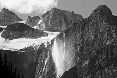 Craggy Photograph - Glacial Waterfall, Rocky Mountains by Michel Hersen