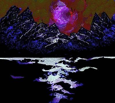 Digital Art - Glacier 2 by Mimo Krouzian