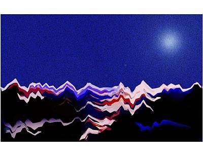 Digital Art - Glacier 3 by Mimo Krouzian