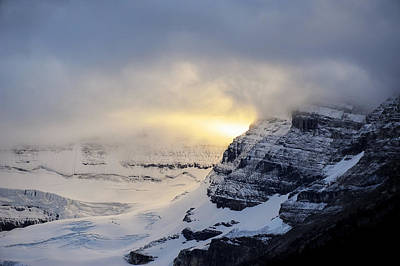 Photograph - Glacier Above Lake Louise Alberta Canada by Mary Lee Dereske
