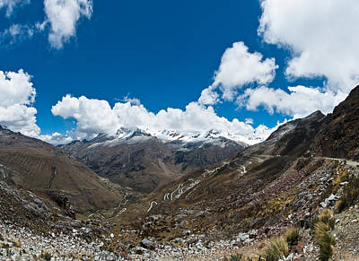 Photograph - Glacier And Mountain Roads In Peru by U Schade