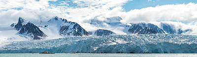 Glacier And Mountains, Spitsbergen Art Print by Panoramic Images
