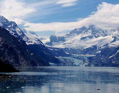 Photograph - Glacier Bay  Johns Hopkins Glacier by Judy Wanamaker