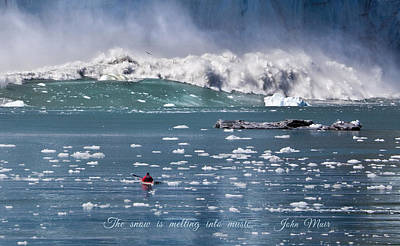 Photograph - Glacier Bay Kayaker by June Jacobsen