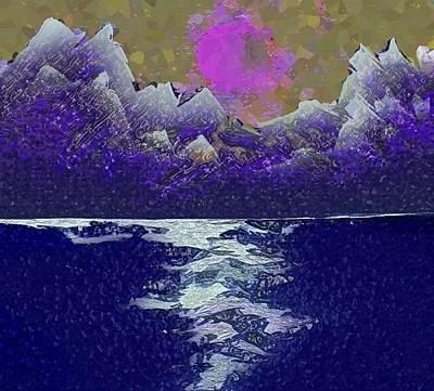Digital Art - Glacier Bay by Mimo Krouzian