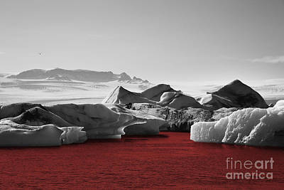 Glacier Blood Art Print