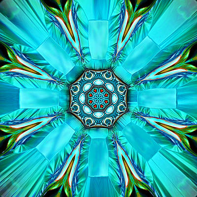 Digital Art - Glacier Blue by Wendy J St Christopher