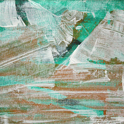 Art Print featuring the painting Glacier C2013 by Paul Ashby