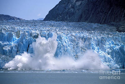 Dawes Photograph - Glacier Calving by Carl Purcell