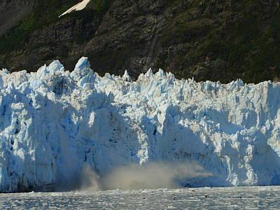 Photograph - Glacier Calving by Lew Davis