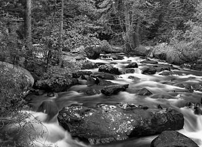 Photograph - Glacier Creek Black And White Rocky Mountain National Park by Posters of Colorado