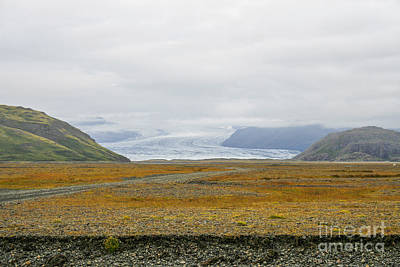 Photograph - Glacier Ending In Rough Terrain by Patricia Hofmeester