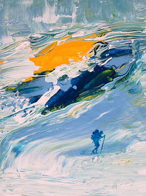 Ice Climbing Painting - Glacier by Fabrizio Cassetta