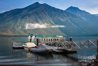 Reflective Surfaces Photograph - Glacier Ferry by Inge Johnsson
